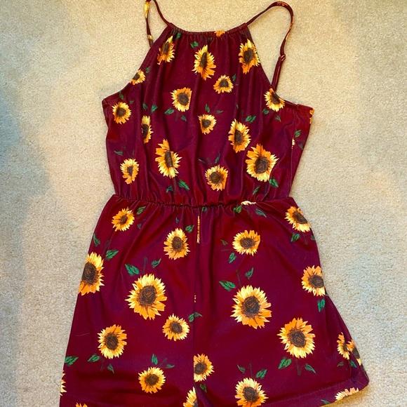 Red Sunflower Romper